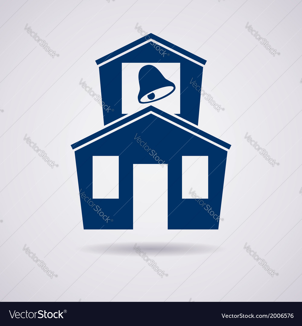 Icon of school vector