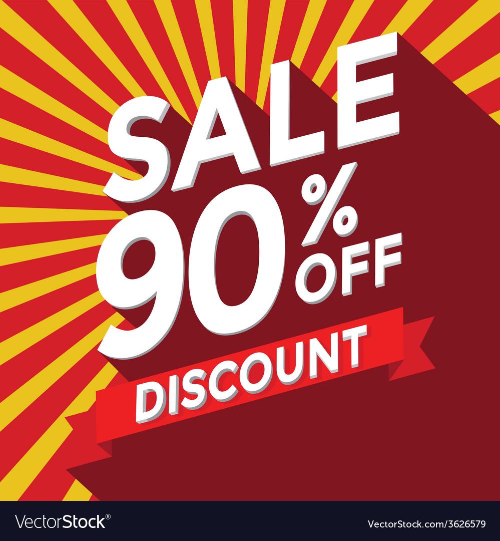 Sale 90 persent off discount vector