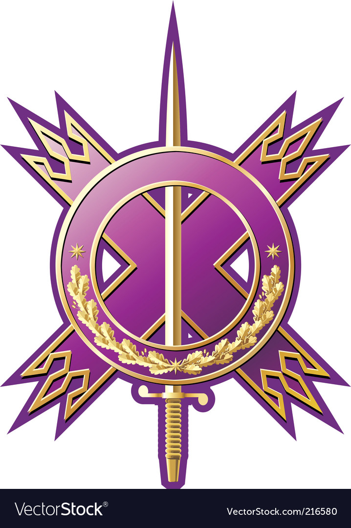 Military style emblem vector