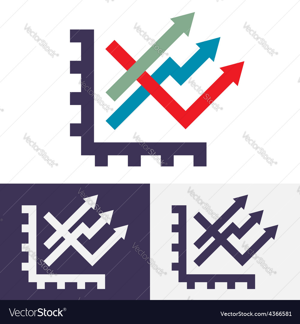Chart option icon vector