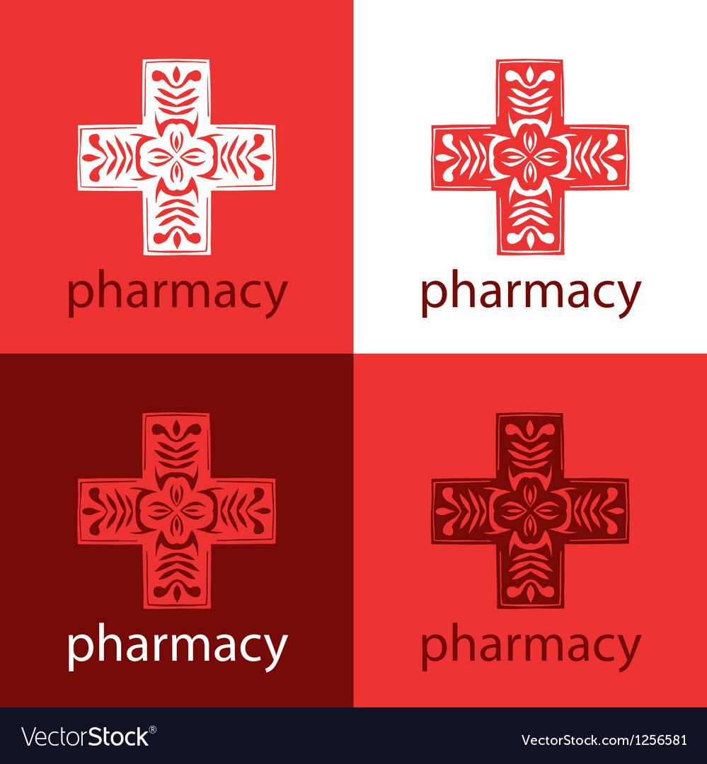 Red medicine logo vector