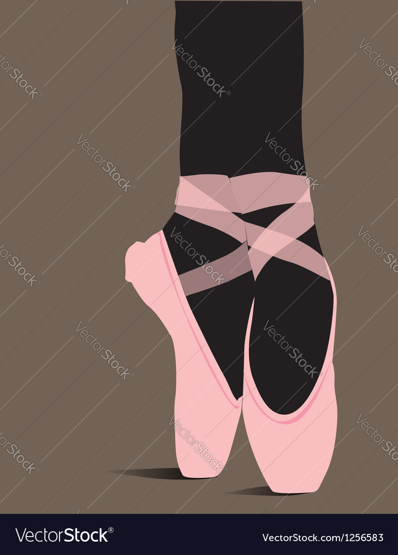 Ballet shoes vector
