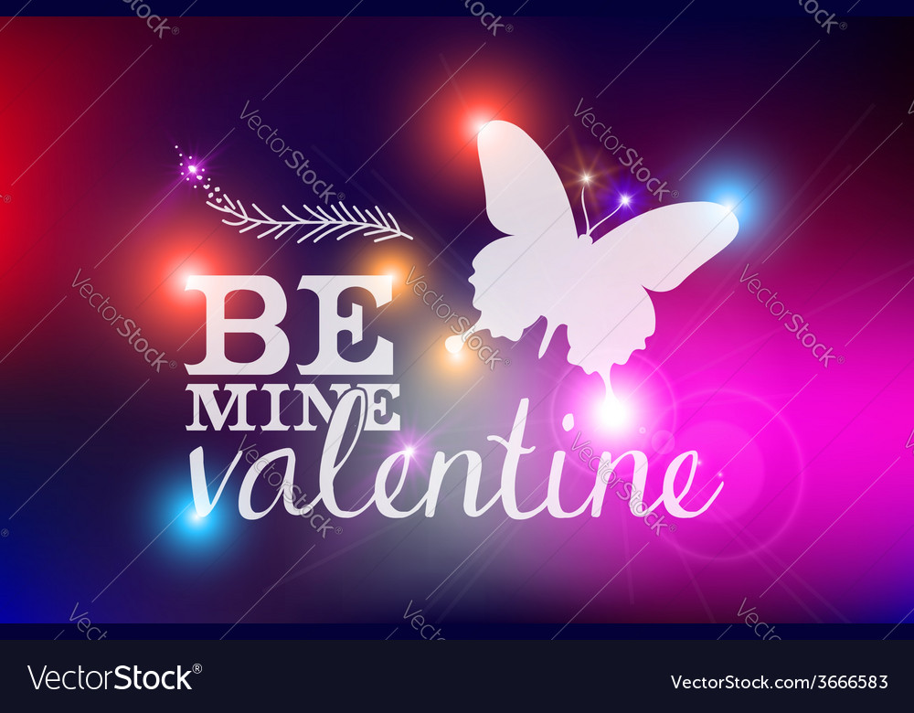 Happy valentines day blurred abstract card vector