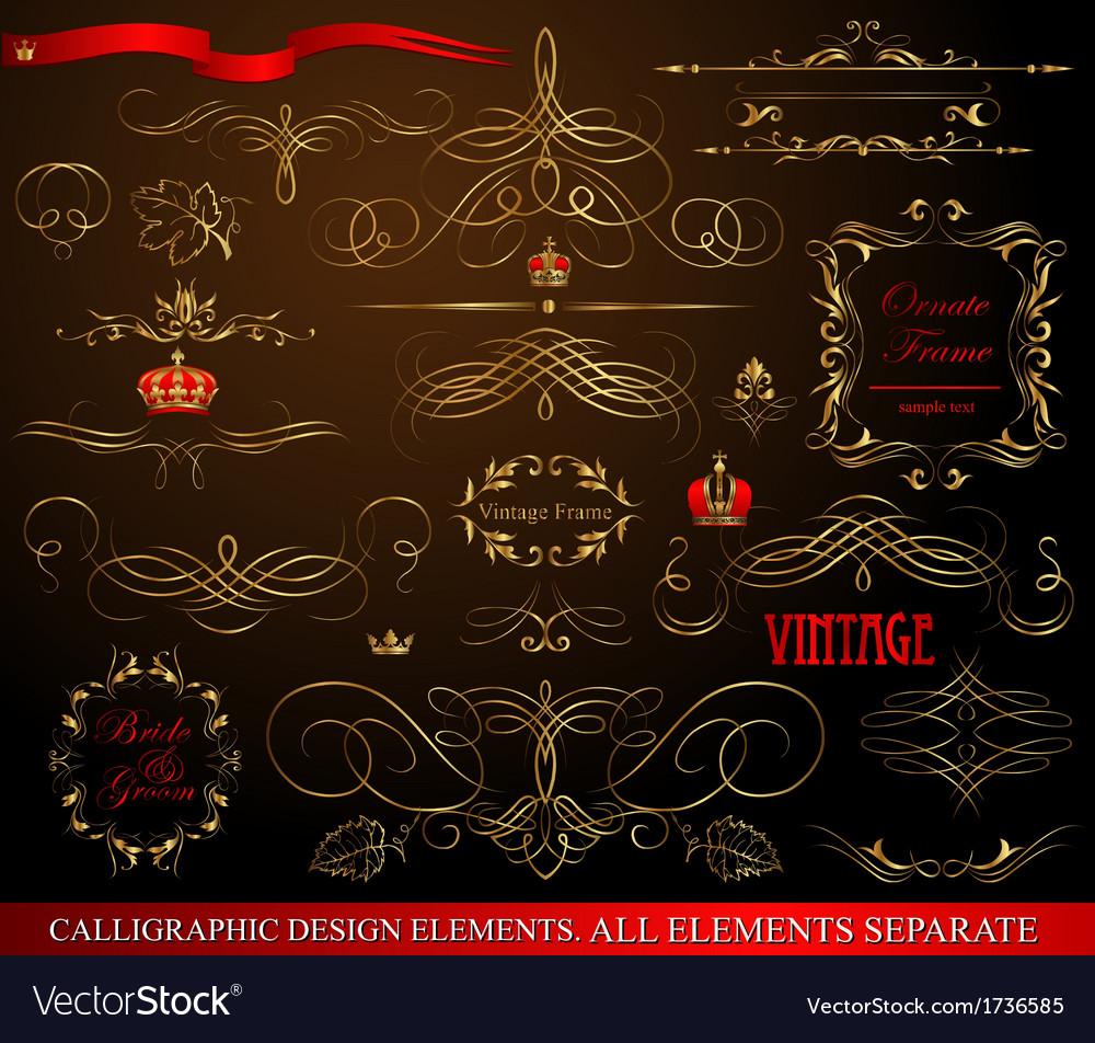 Calligraphic design vector