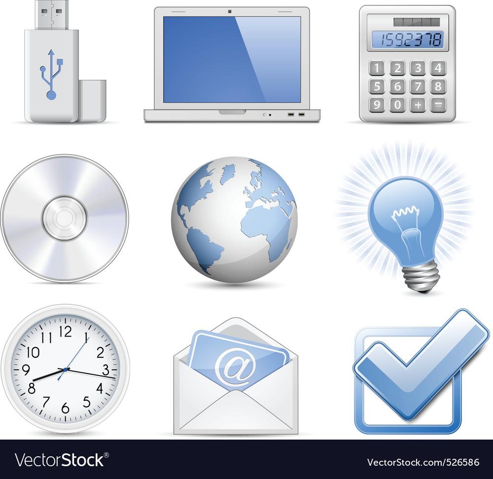 Universal web icon set vector