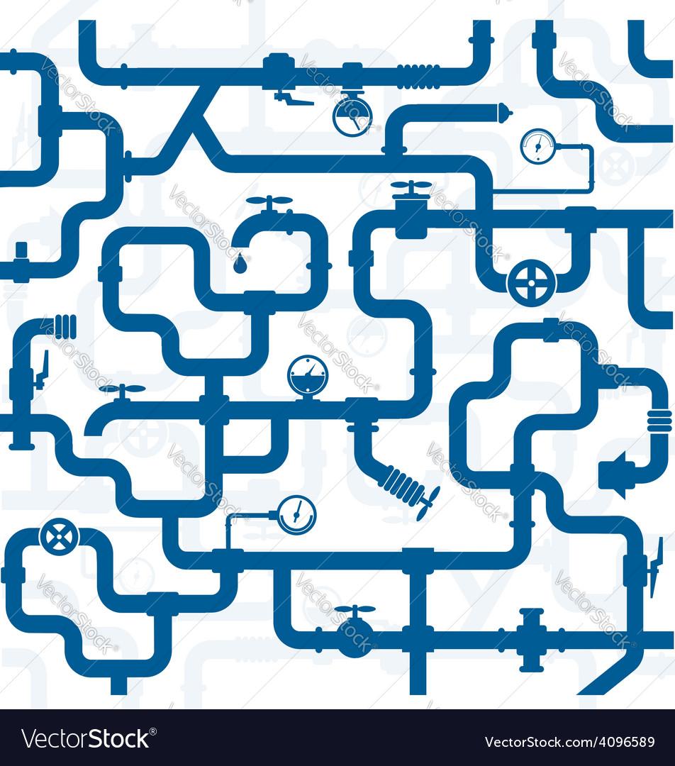 Pipeline plumbing vector