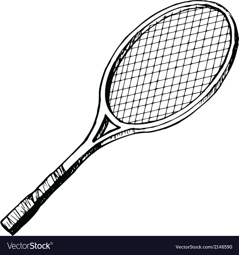 Tennis bat vector