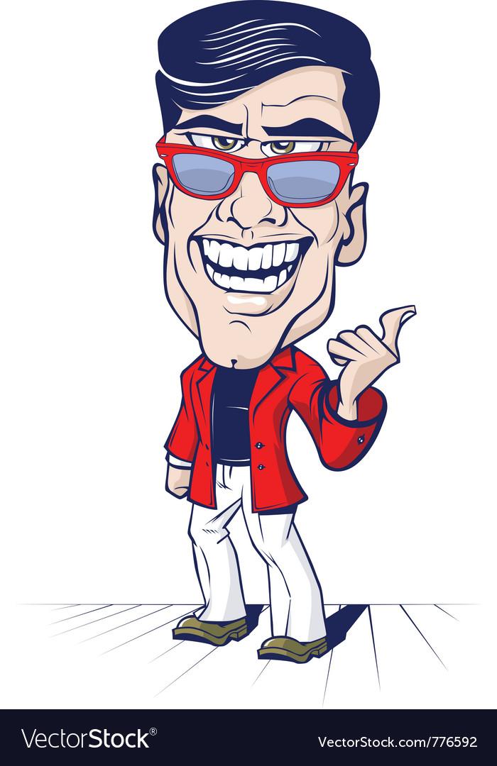 Cartoon smile office man vector