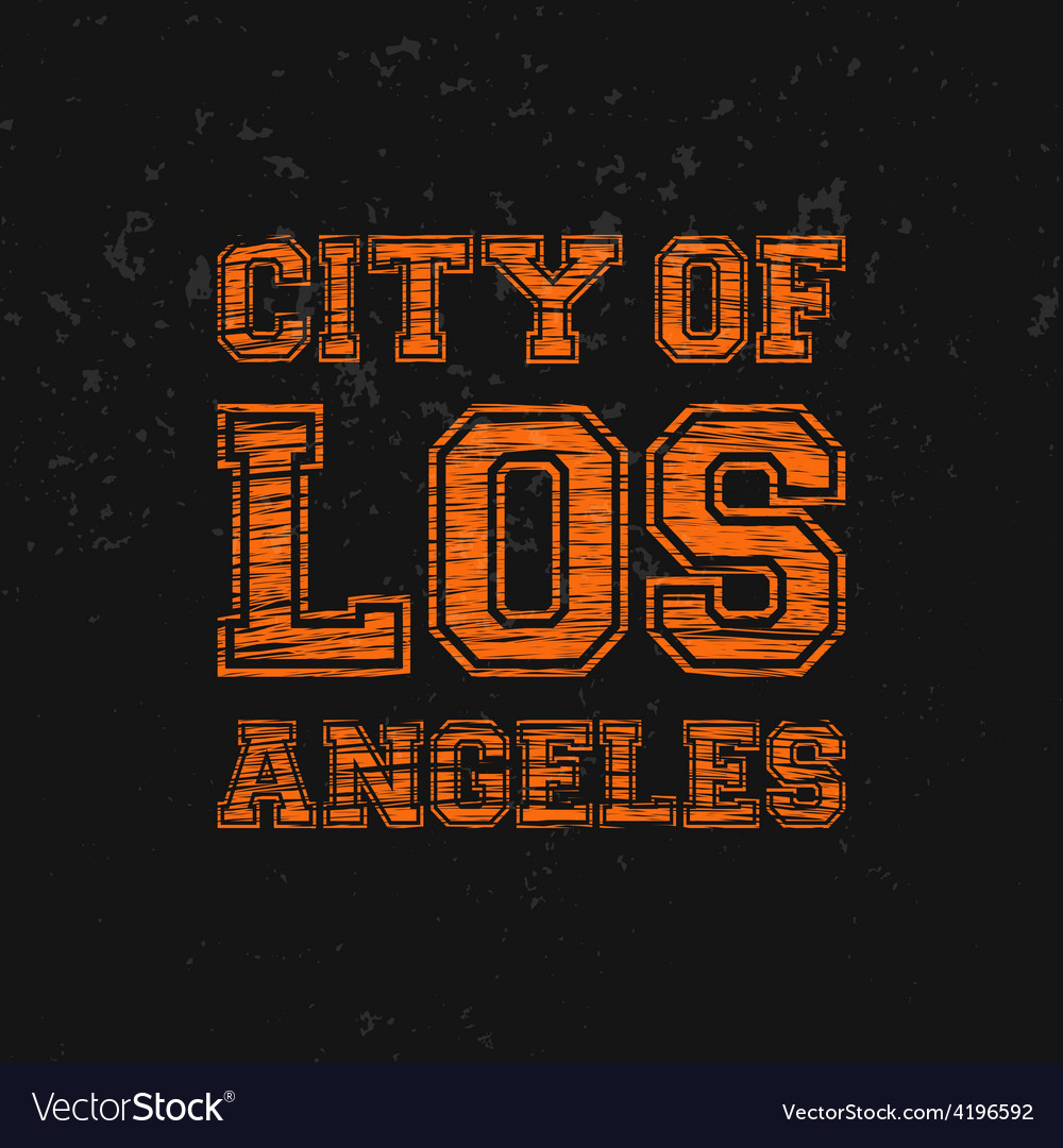City of los angeles - artwork for wear in custom vector