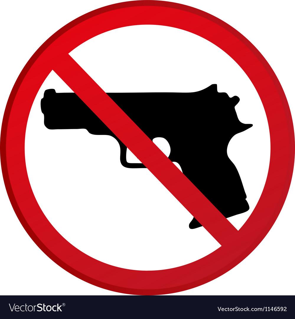 No guns allowed sign vector