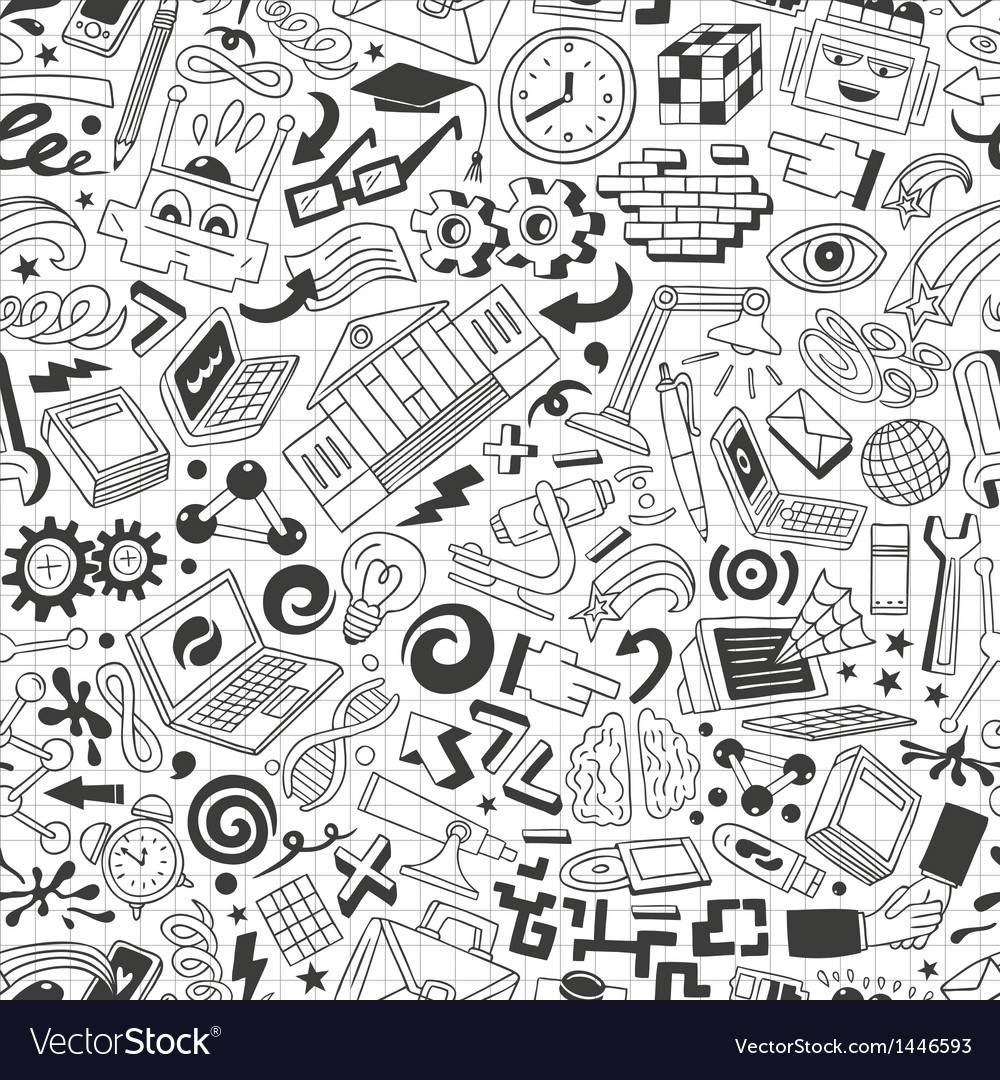 Education - seamless background vector