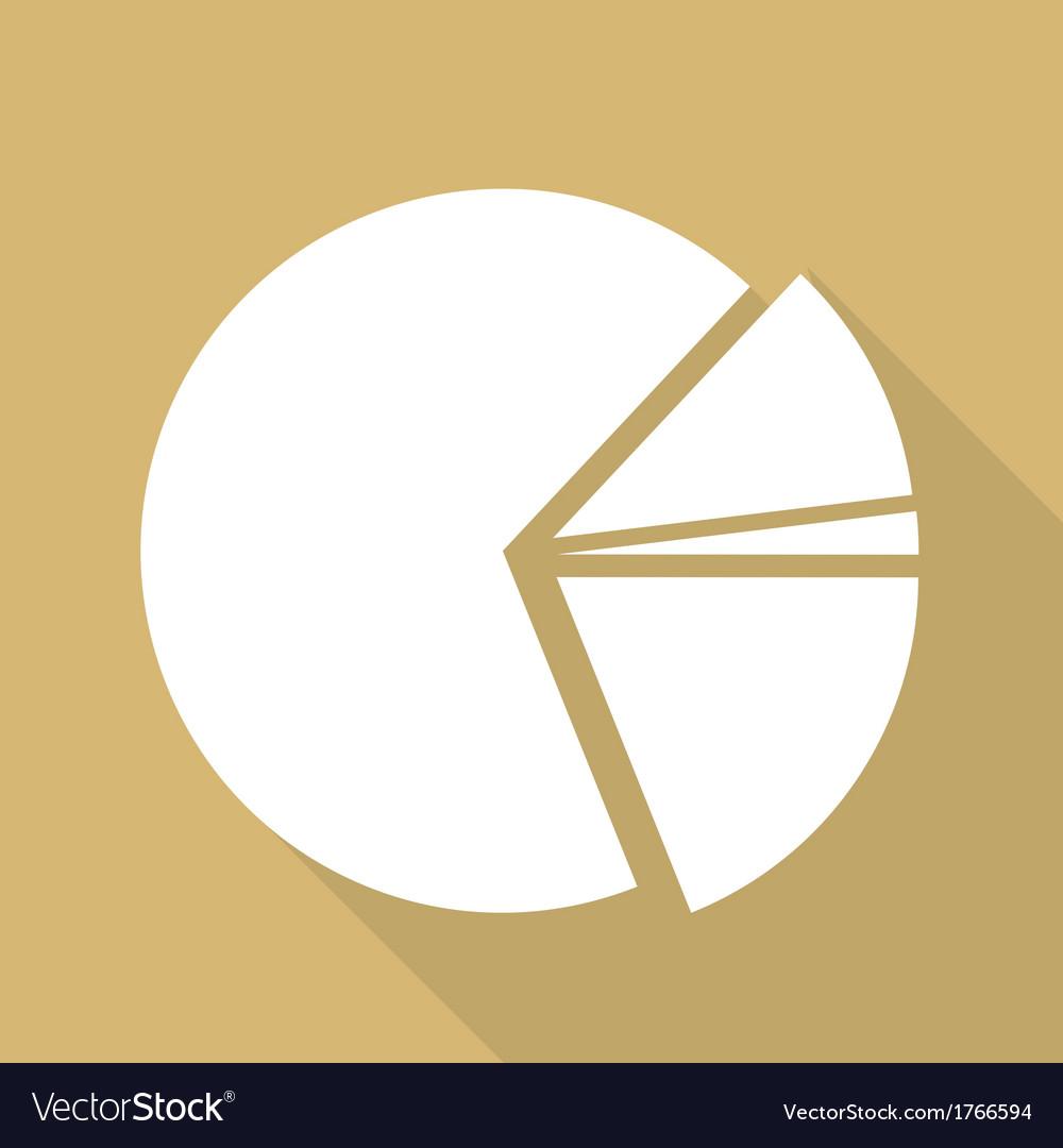 Circular diagram web icon vector