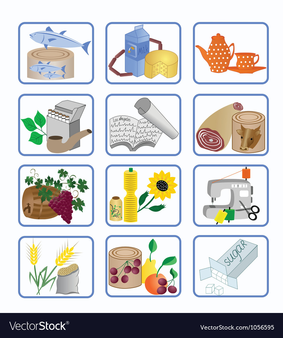 Icons for the design vector