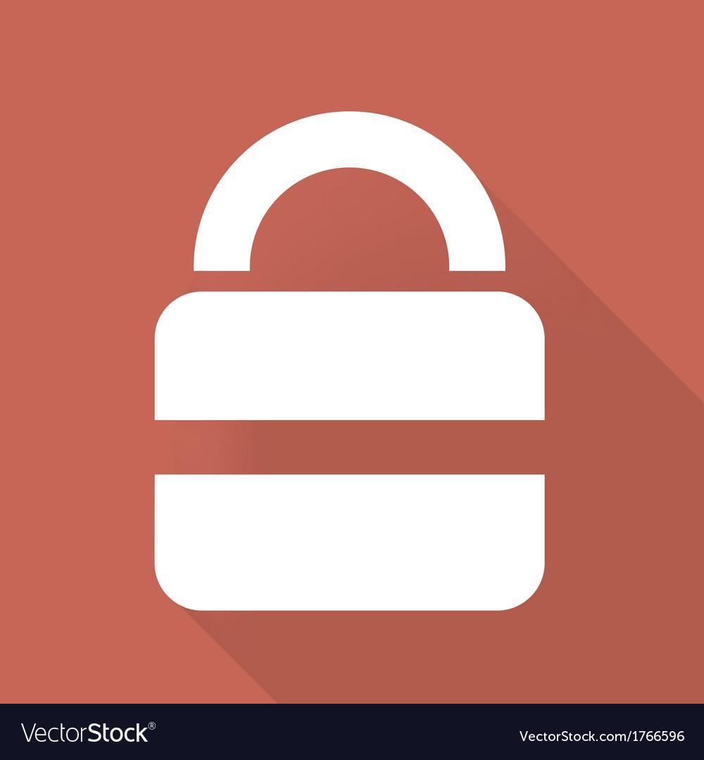 Padlock web icon vector