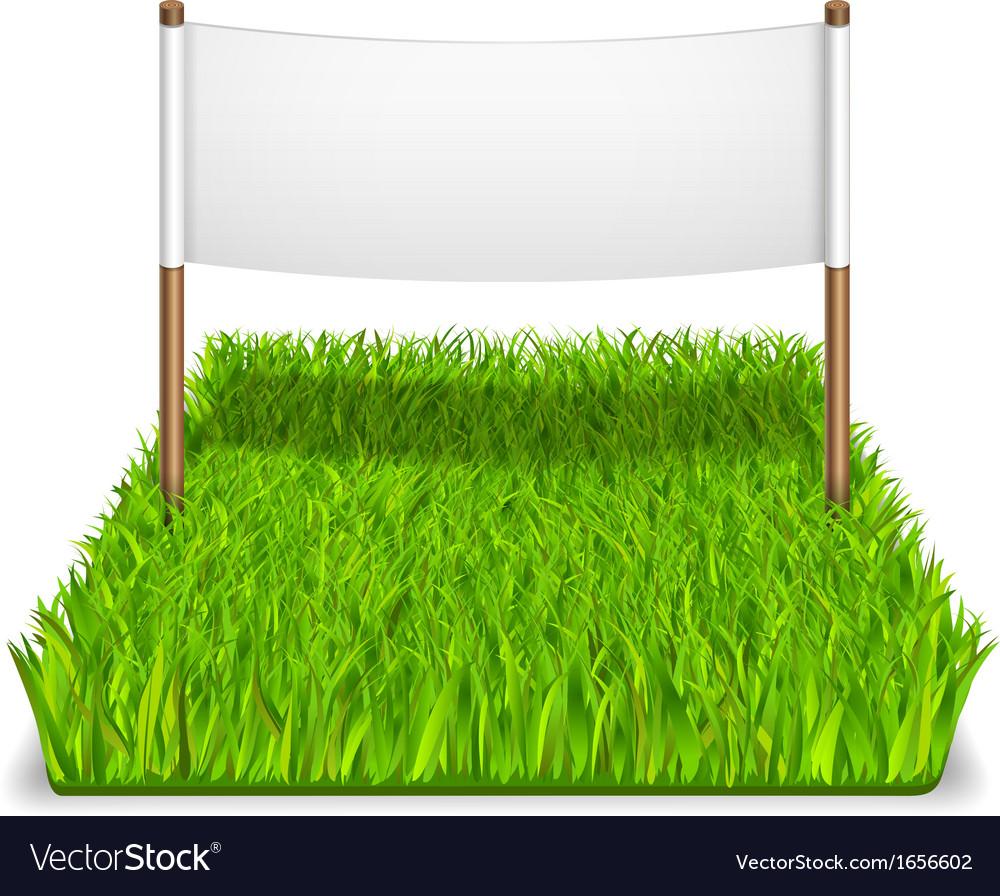 Green grass sign vector