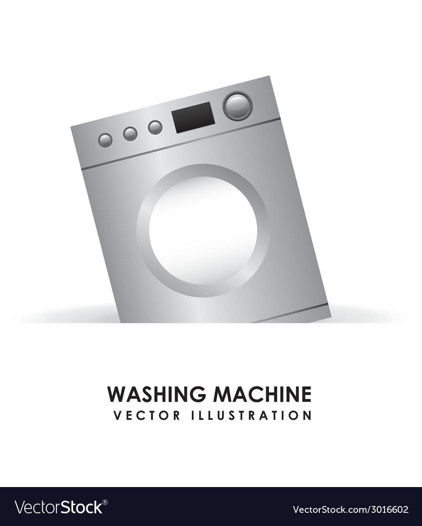 Washing machine design vector