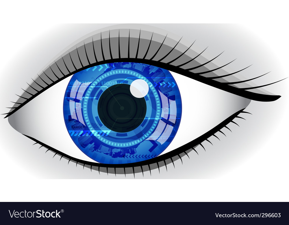 Abstract eye vector
