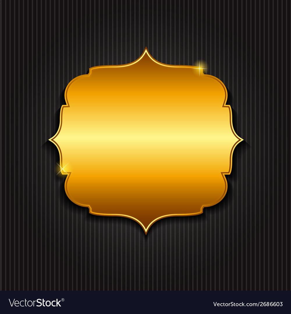 Golden shiny frame vector