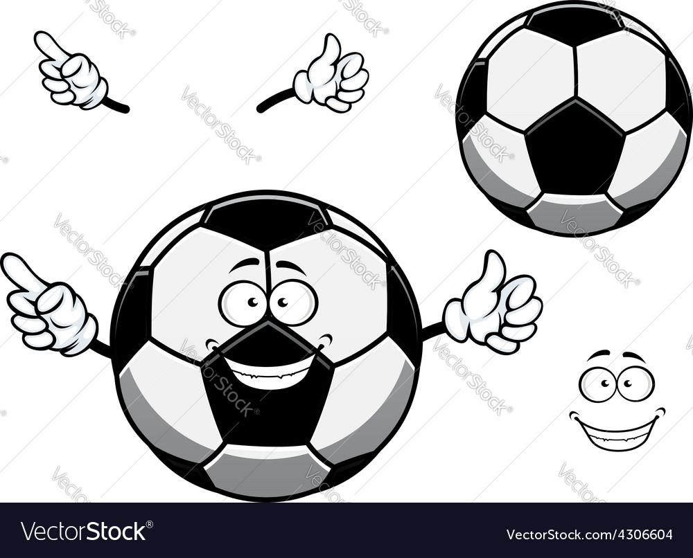 Football or soccer ball sporting mascot cartoon vector