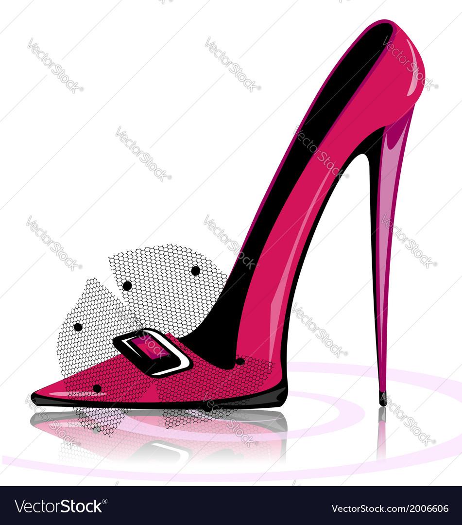 Pink shoe vector