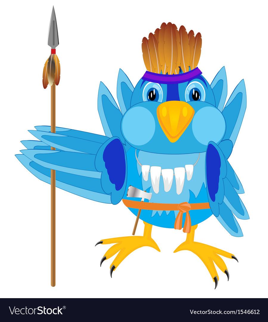 Bird in cloth indian vector