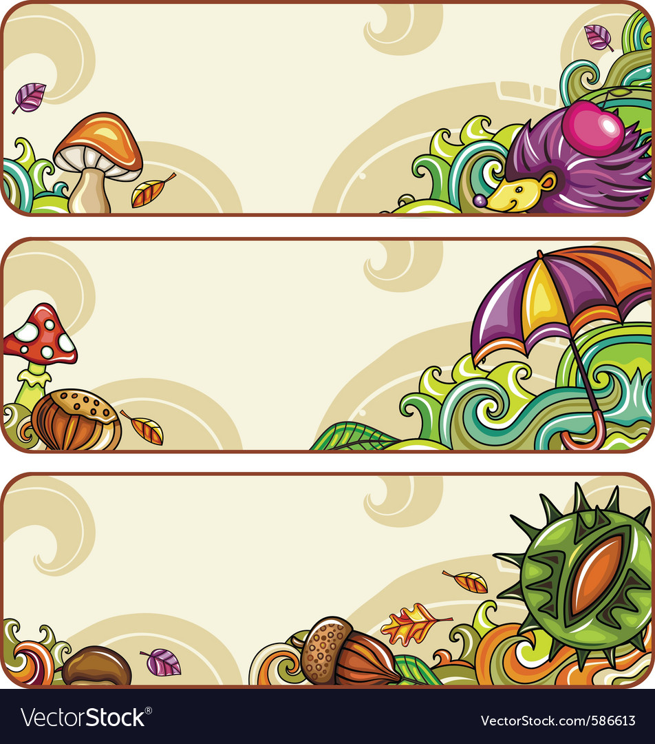 Autumn banners part 1 vector