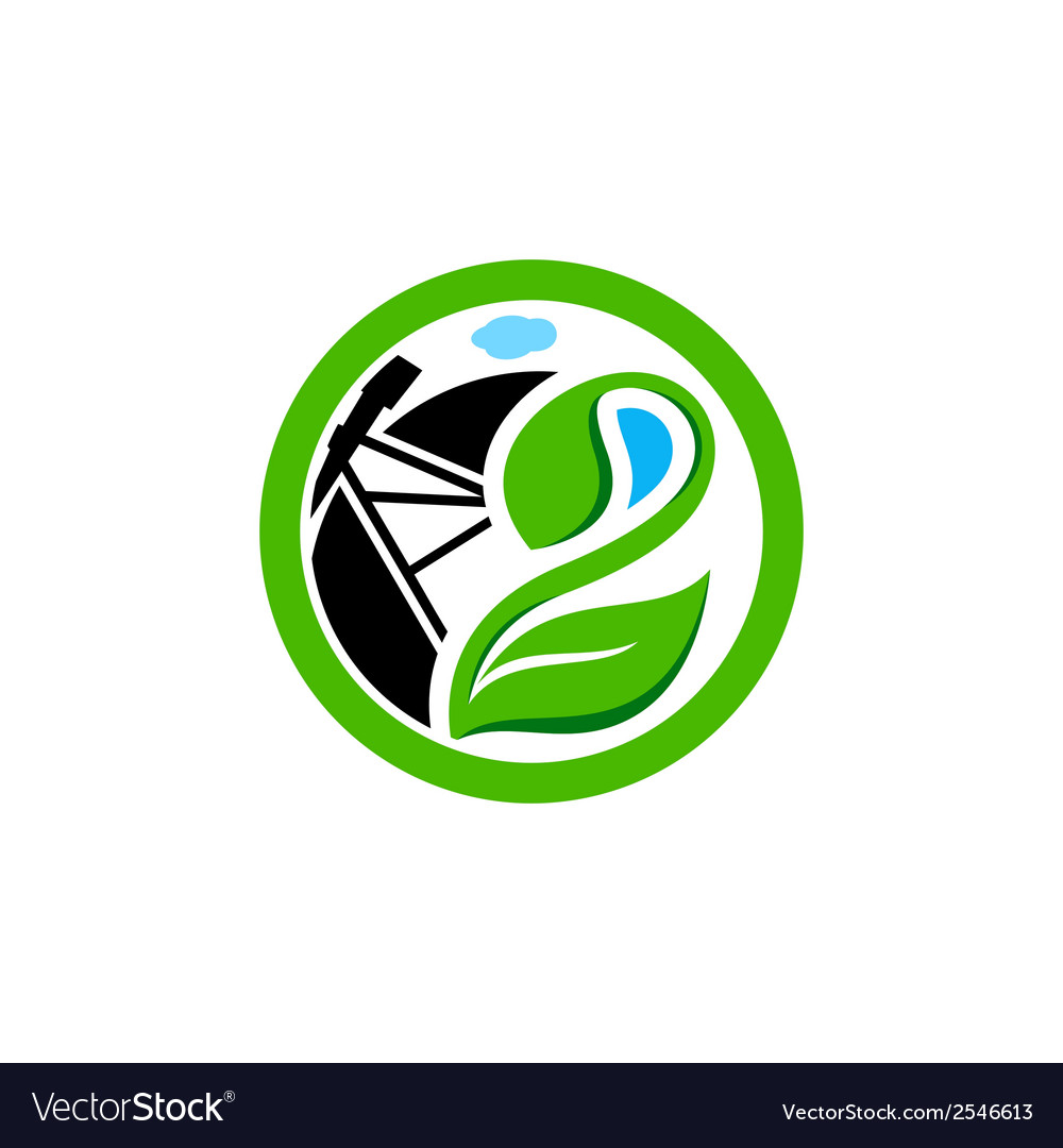 Land reclamation sign vector