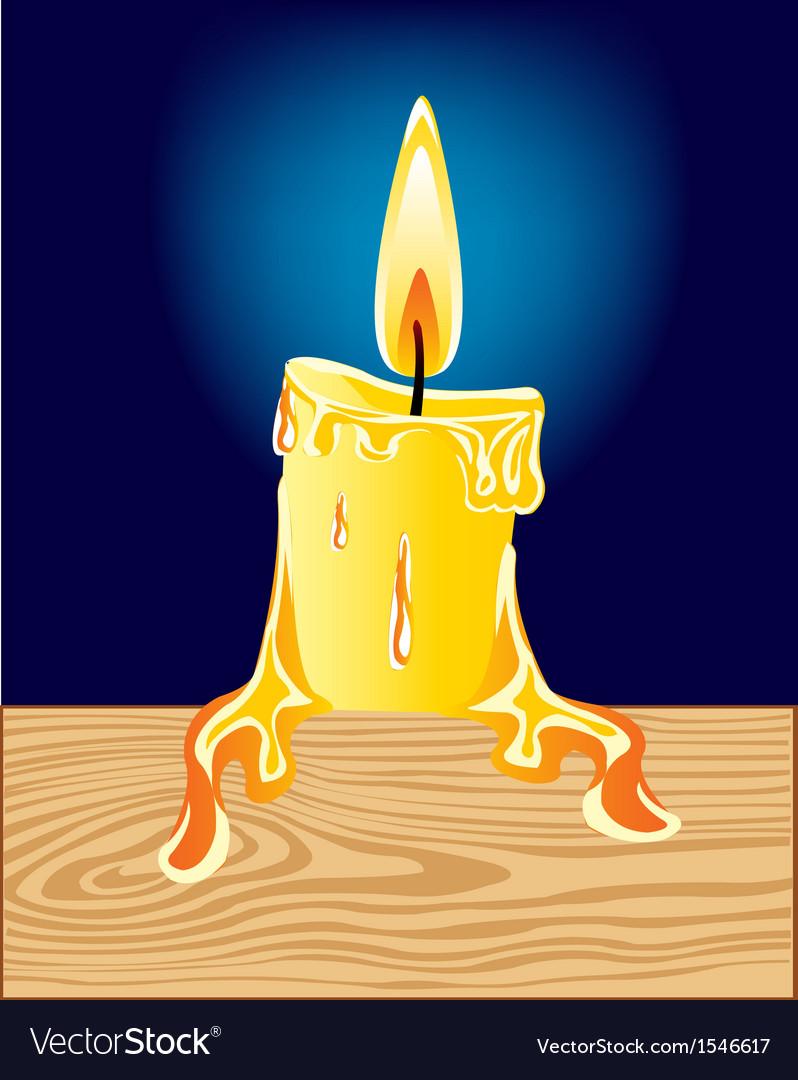 Burninging candle vector