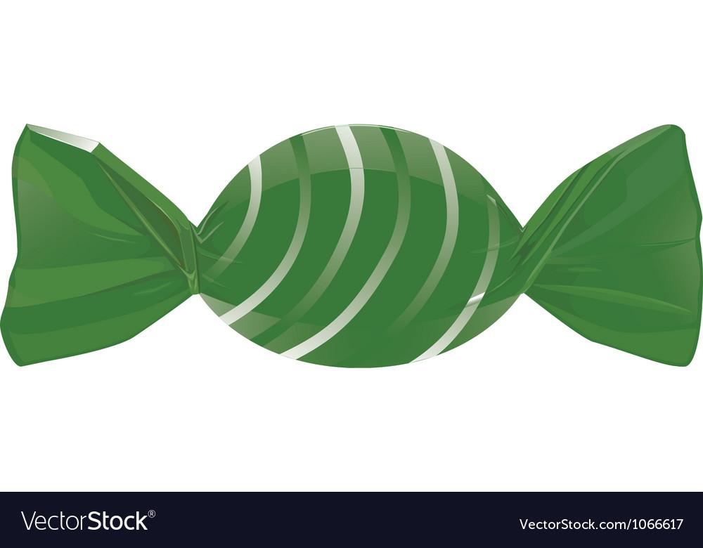 Green candy vector