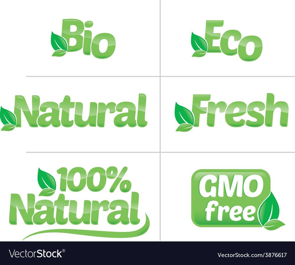 Logo nature vector
