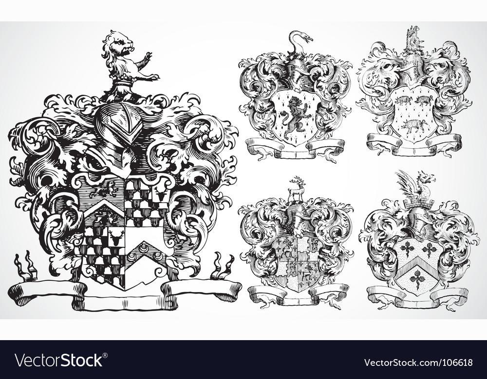 Medieval crests vector