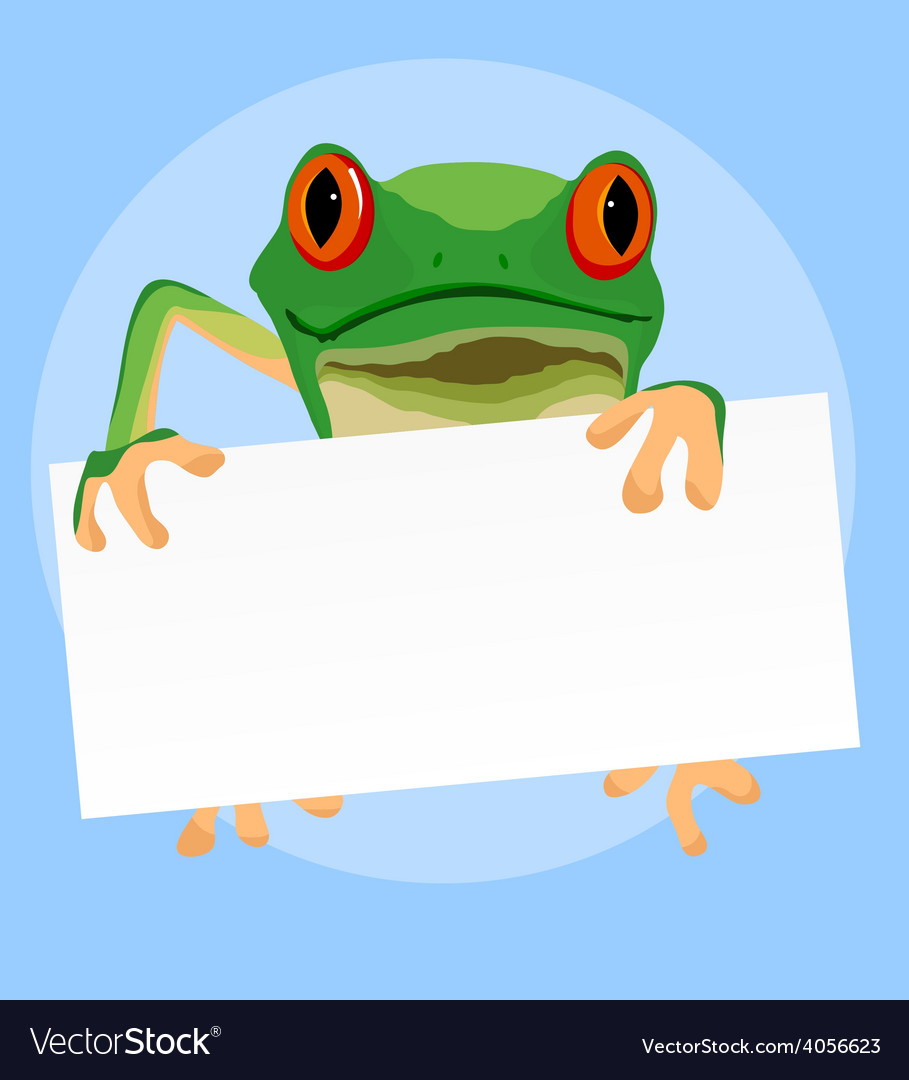 Red eyed tree frogs vector