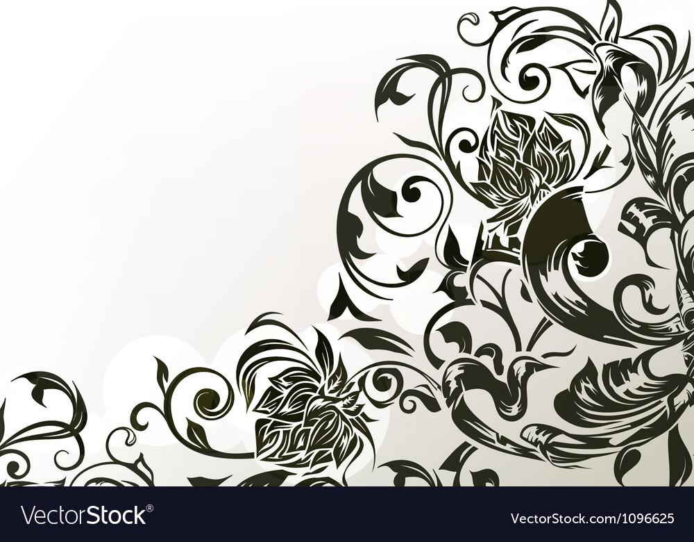 Black decor vector