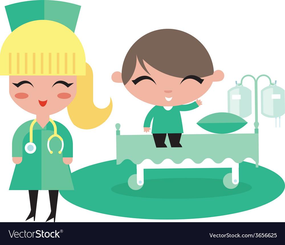 Child kid hospital vector