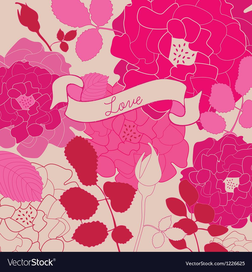 Retro floral background vector