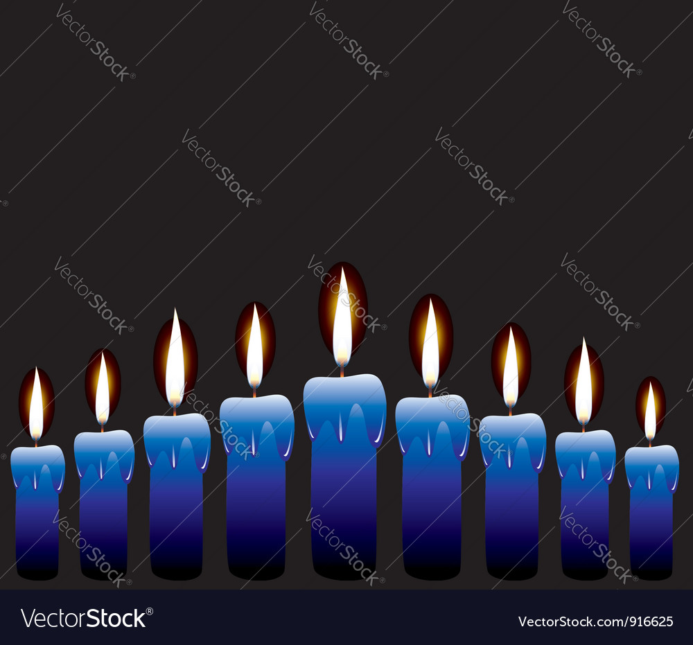 Row of candles vector