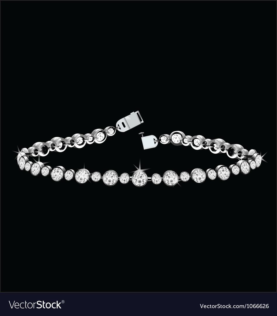 Diamond bracelet vector