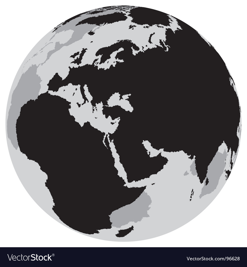Earth europe vector