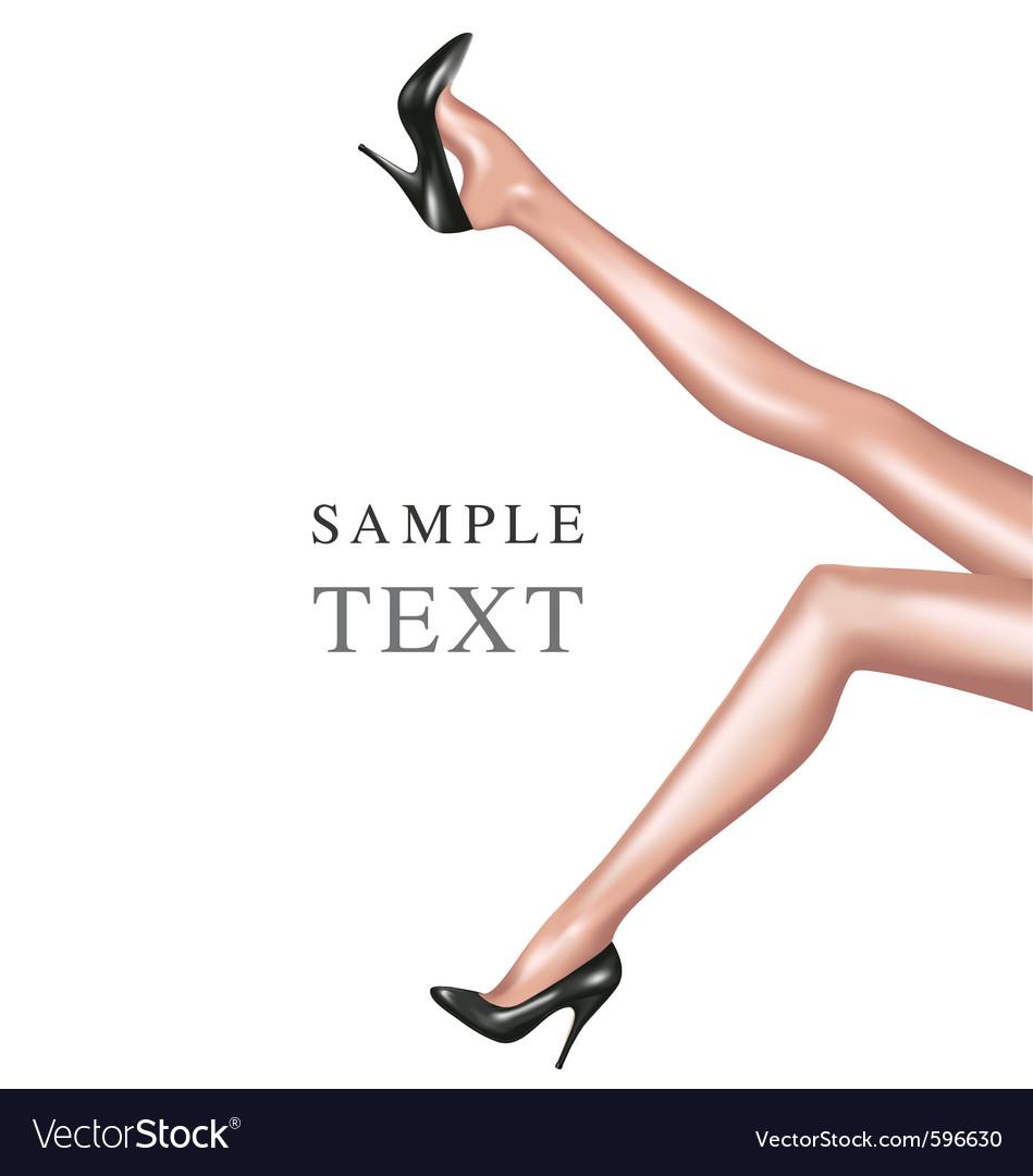 Sexy woman legs vector