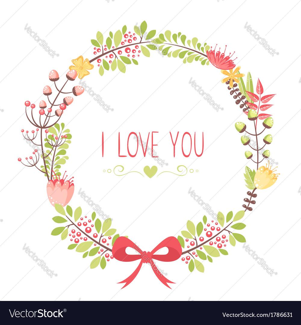 Elegant floral congratulation card vector