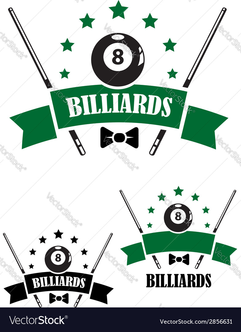 Retro style emblem of snooker vector