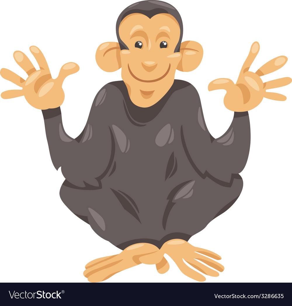 Chimpanzee ape cartoon vector