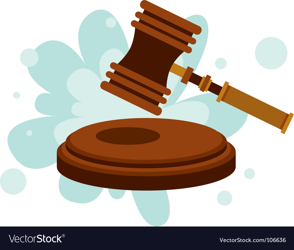 Court hammer vector