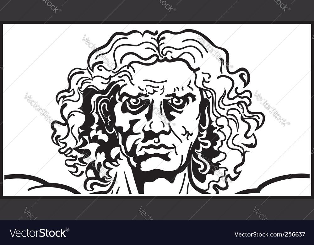 Head of the vitruvian man vector