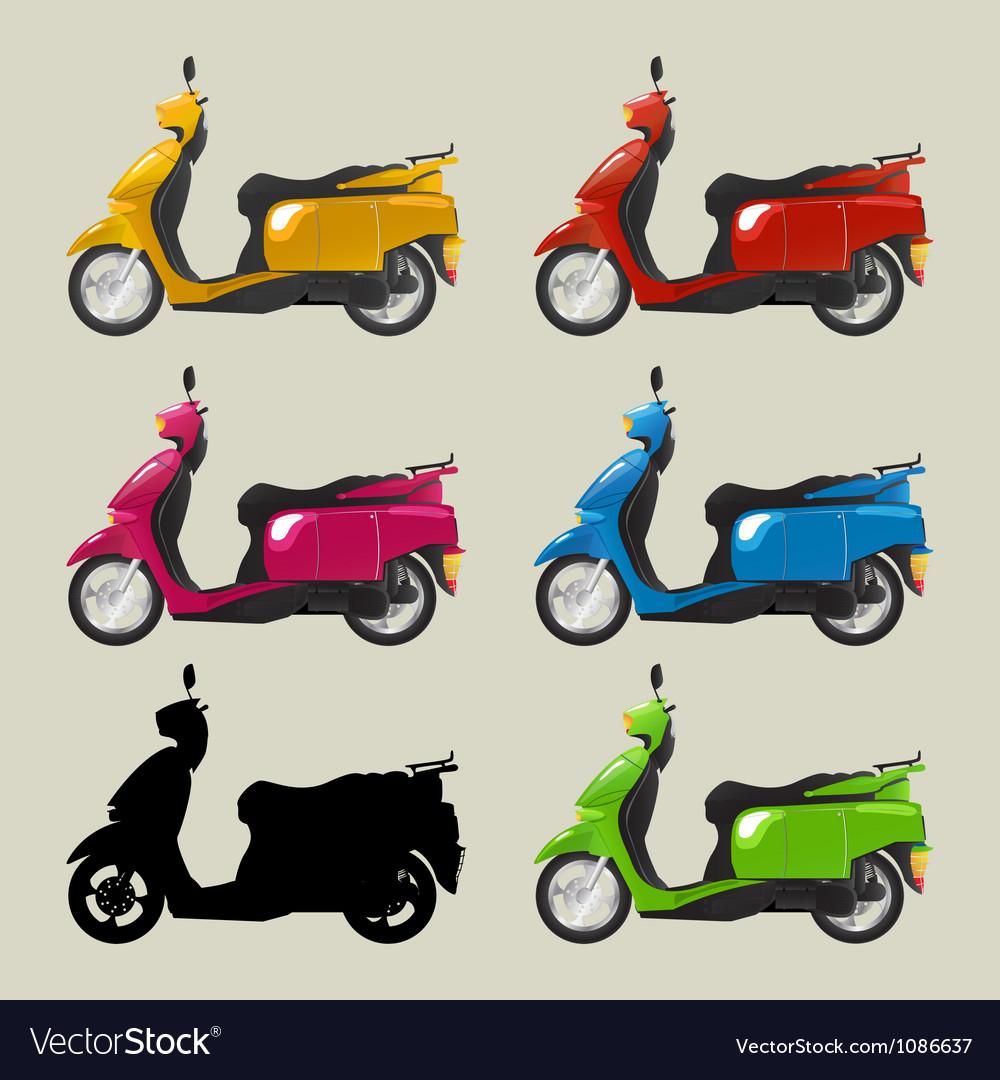 Retro scooters vector