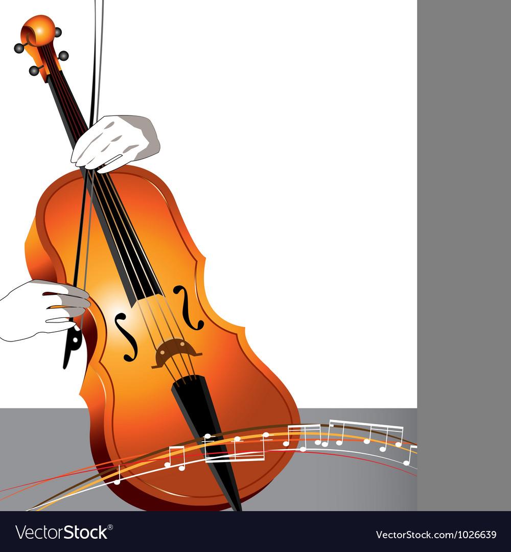 Abstract cello and musician vector