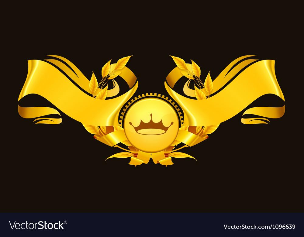 Design element emblem gold vector