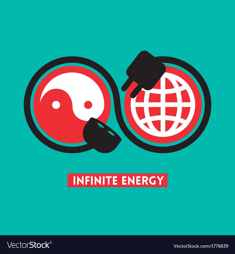 Infinite energy concept vector