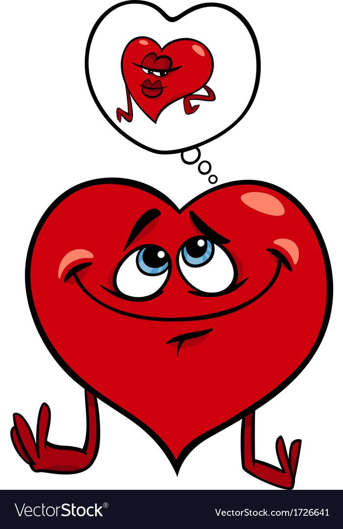 Heart in love cartoon vector