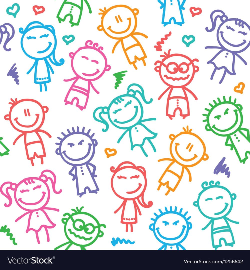 Kid pattern vector